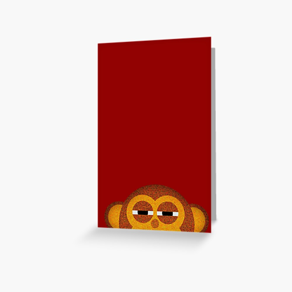 Pocket monkey is highly suspicious Greeting Card