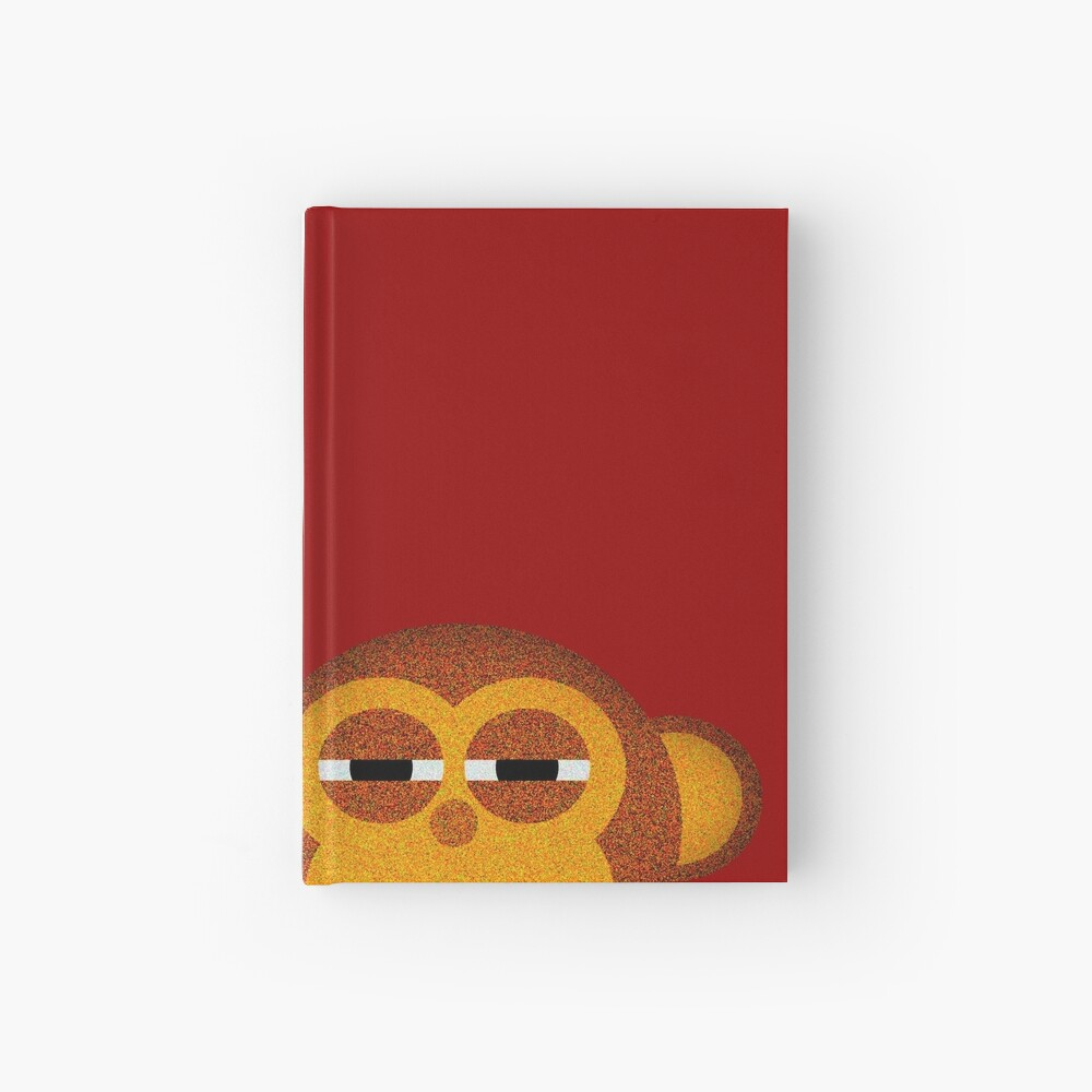 Pocket monkey is highly suspicious Hardcover Journal