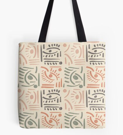 Tribal Eyes #redbubble #pattern Tote Bag