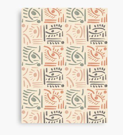 Tribal Eyes #redbubble #pattern Canvas Print