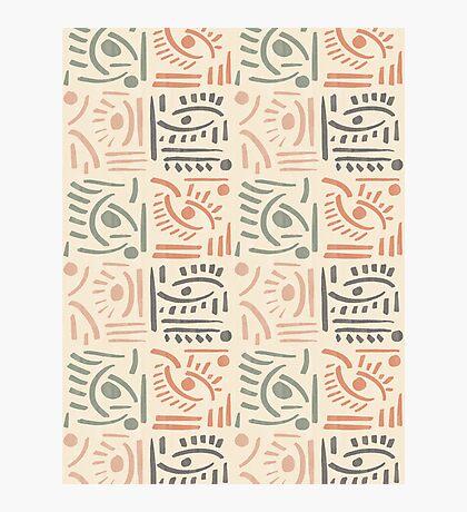 Tribal Eyes #redbubble #pattern Photographic Print