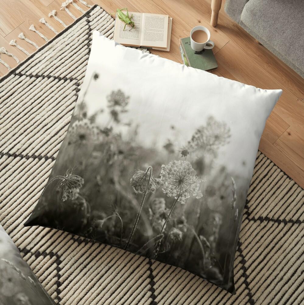 Queen Anne's Lace, No. 1 Floor Pillow