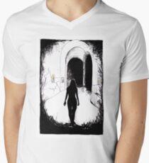 Dark Catacombs T-Shirt mit V-Ausschnitt