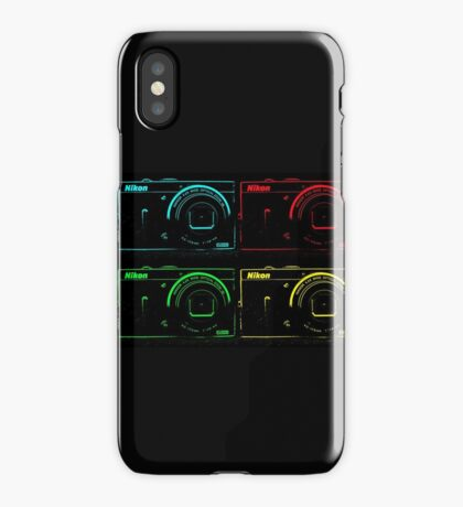 Nikon x 4 (PopArt) iPhone Case