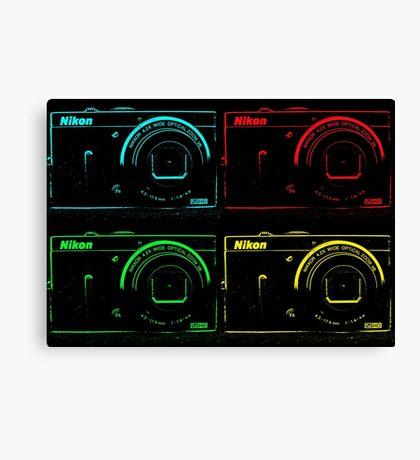 Nikon x 4 (PopArt) Canvas Print