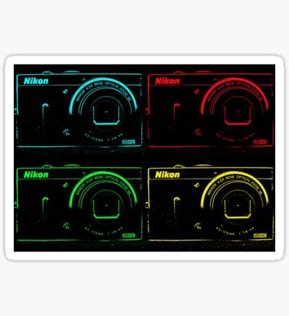 Nikon x 4 (PopArt) Sticker