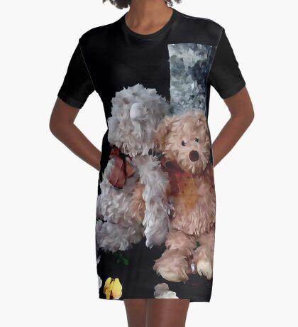 Teddy Bear Buddies Graphic T-Shirt Dress