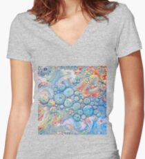 Abstraction #B Fitted V-Neck T-Shirt