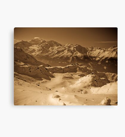 Verbier: Golden Moments of a Ski Adventure Canvas Print
