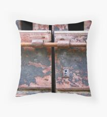Red Door - Tuscany, Italy Throw Pillow