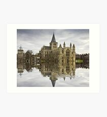 Rochester Cathedral Flood with Flaming Pears filter Art Print