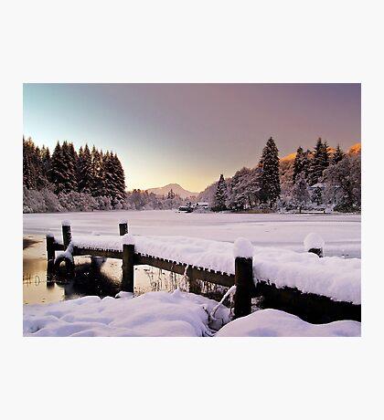 Winter's Snow Over Loch Ard Photographic Print