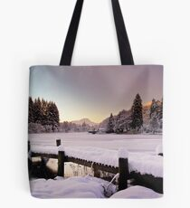 Winter's Snow Over Loch Ard Tote Bag