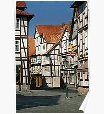 Timber Framed houses, Melsungen, Germany, 1980s. Poster