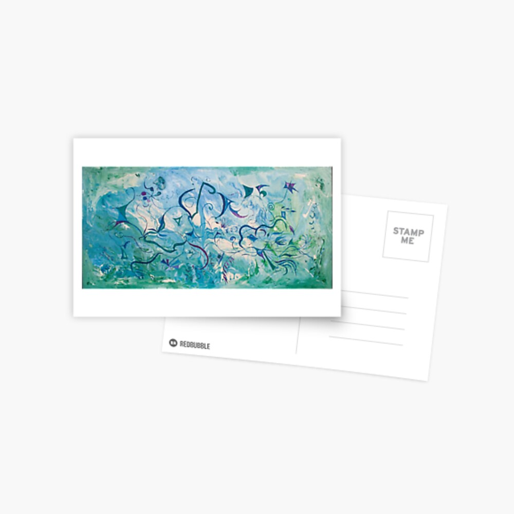 orient impressions abstract art Postcard