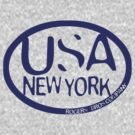 usa new york tshirt blue by rogers bros co by usanewyork