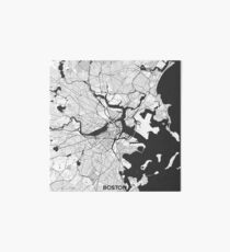 Boston Map Gray Art Board