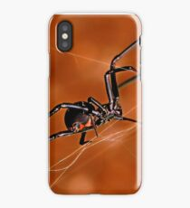 Electric Orange Slide    ( Black Widow Series) iPhone Case/Skin