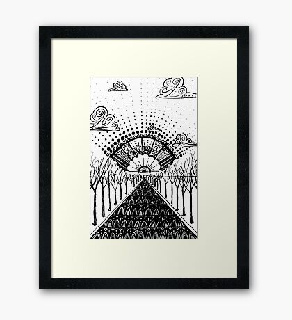 and on it went  Framed Print