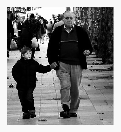 Grandson...What did I say about smoking ?? Photographic Print