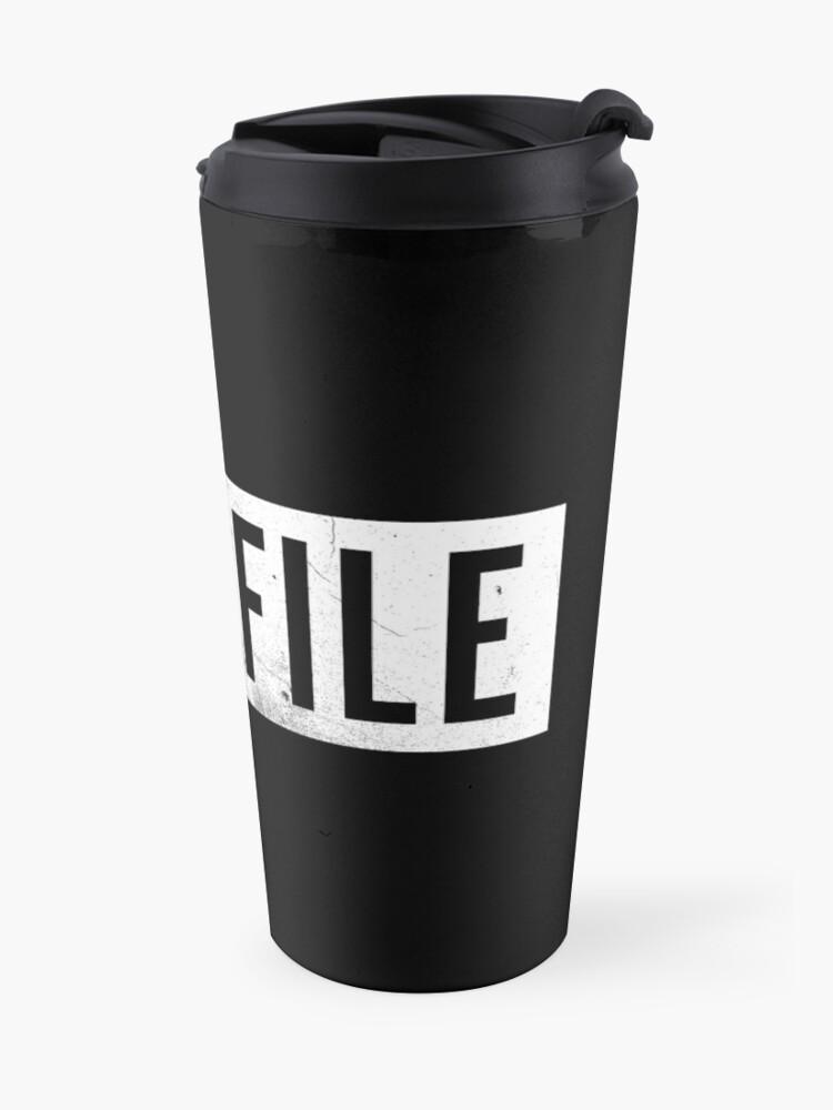 Alternate view of Casefile True Crime – Casefile Logo (Light) Travel Mug