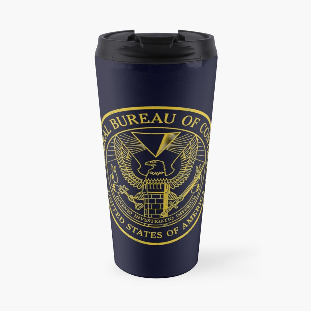 Federal Bureau of Control | Control Game Logo | Distressed Logo Travel Mug