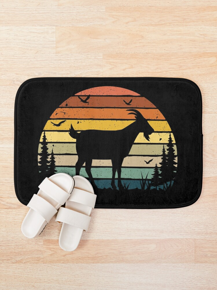 Alternate view of Goat Retro Vintage  Bath Mat