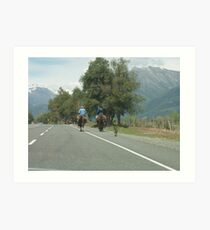 Gauchos Returning Home at the End of the Day Art Print