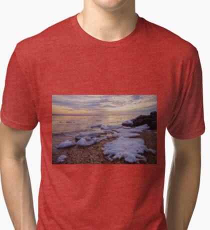 A Cold Sandy Hook Winter Tri-blend T-Shirt