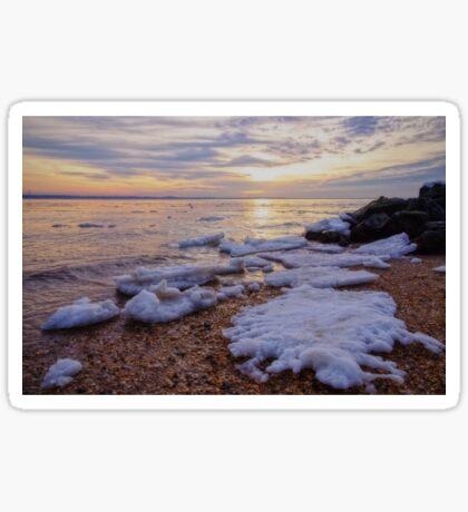 A Cold Sandy Hook Winter Sticker
