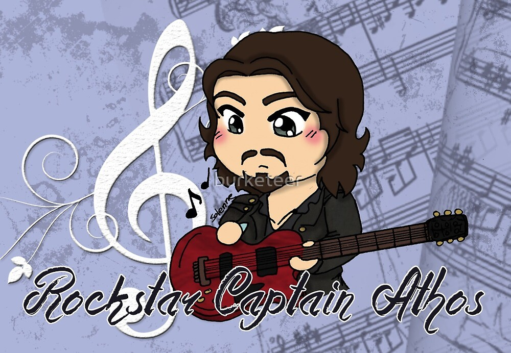 Rock Star Captain Athos ~ cards and prints by burketeer