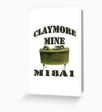 Claymore Mine Greeting Card