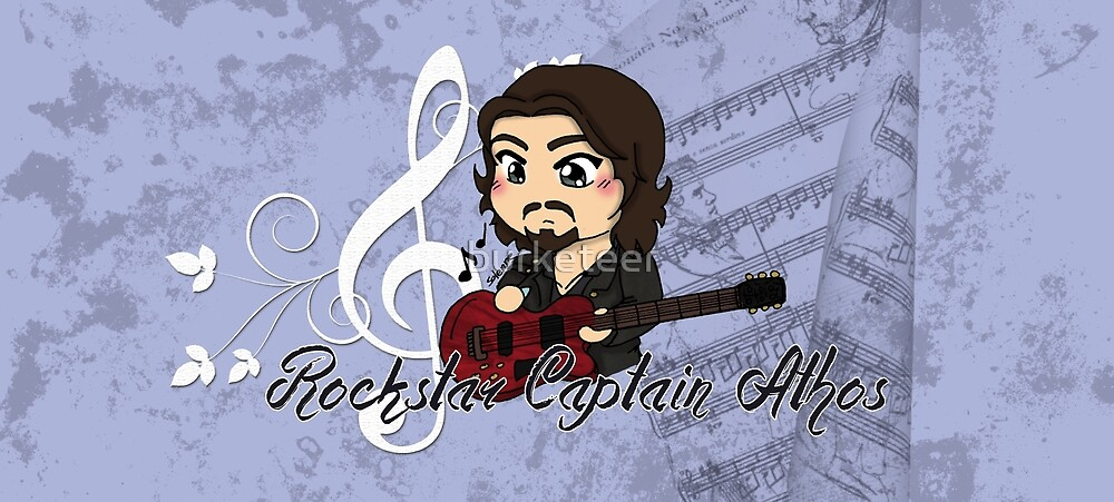 Rock Star Captain Athos ~ Mug by burketeer