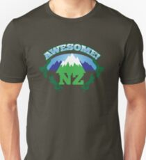 AWESOME NZ (New Zealand) with mountains and tattoo version map Unisex T-Shirt