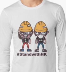 Stand with Hong Kong 2 (on white tee) Long Sleeve T-Shirt