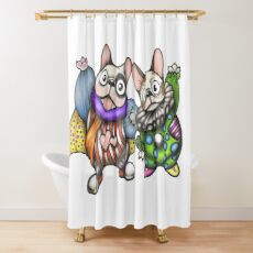 Funny Frenchies Shower Curtain