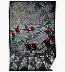 Imagine - The John Lennon Memorial Poster