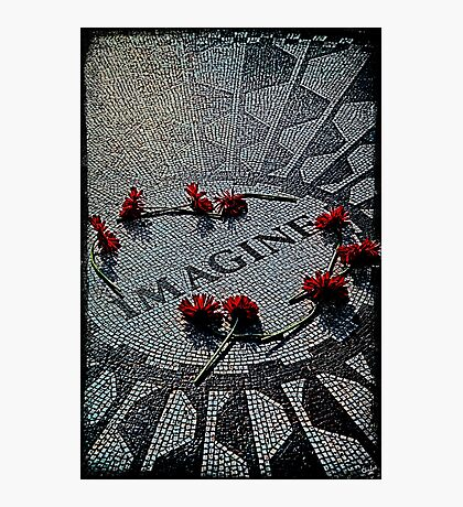 Imagine - The John Lennon Memorial Photographic Print