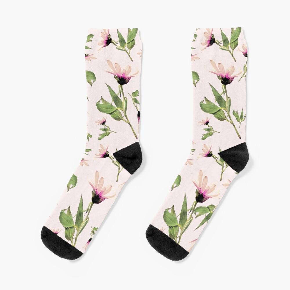 Rosa Romantik blühen Socken