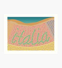 Italia / Italy Beach Umbrellas - Aerial Italian Art Print