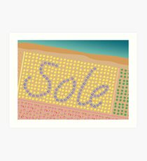 Sole / Sun Italy Beach Umbrellas - Aerial Italian Art Print