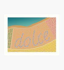 Sweet Italy Beach Umbrellas - Aerial Italian Art Print