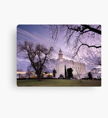 St. George LDS Temple - Evening Canvas Print