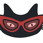 Cool Cat Wearing Cat Eye Glasses - Including Patterns! by epitomegirl