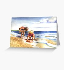 Finding shells Greeting Card