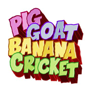 Pig Goat Banana Cricket by Gindus