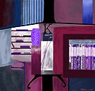 """""""At the Library"""" - Abstract realism by Patrice Baldwin"""