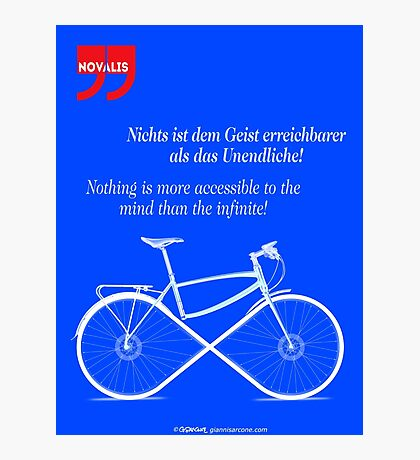 Ride To Infinity (quotation) Photographic Print