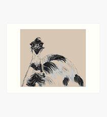 Emu Black and White Art Print