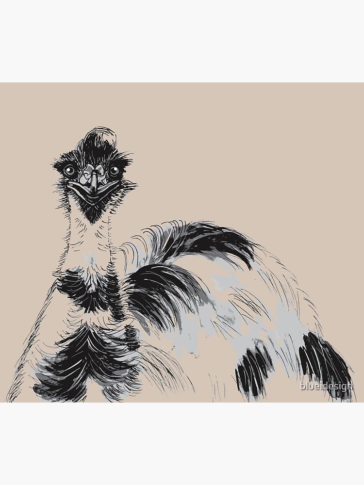 Emu Black and White by blueidesign